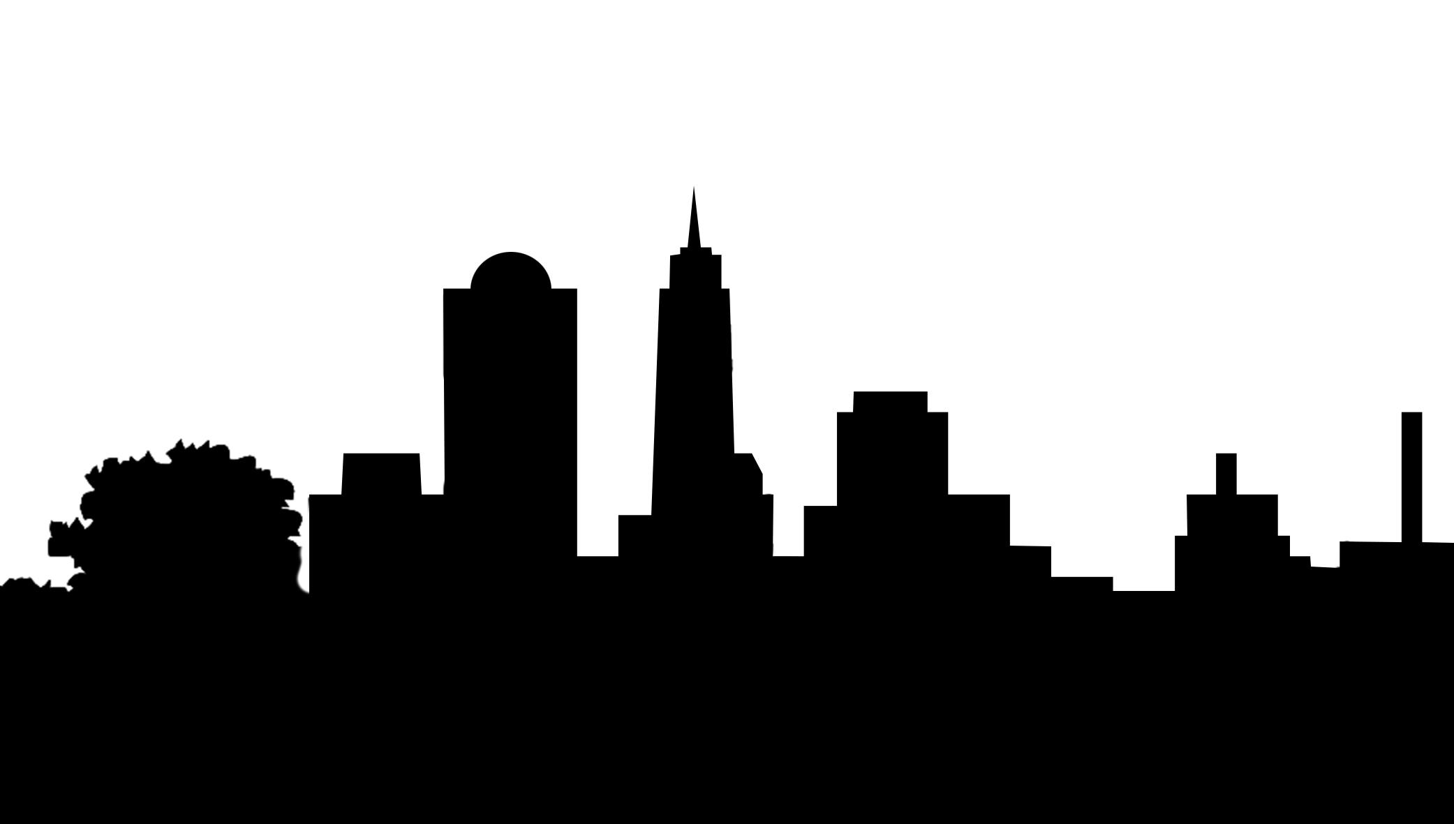 Silhouette . Cityscape clipart one