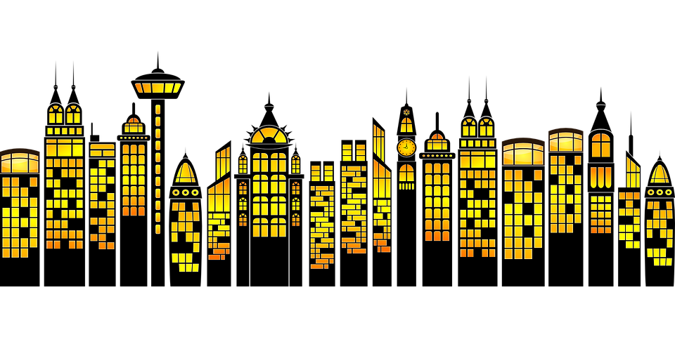 huge freebie download. Cityscape clipart superman building