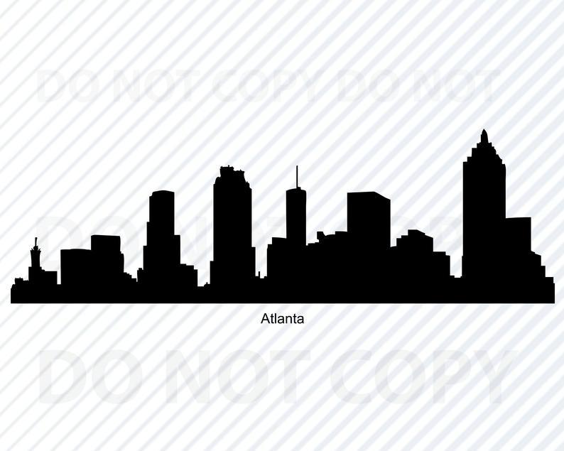 Atlanta skyline files for. Cityscape clipart svg
