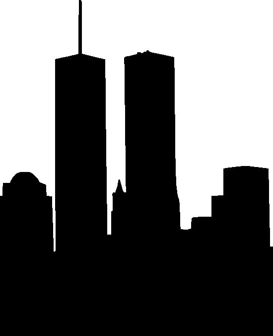Cityscape clipart svg. World trade center silhouette