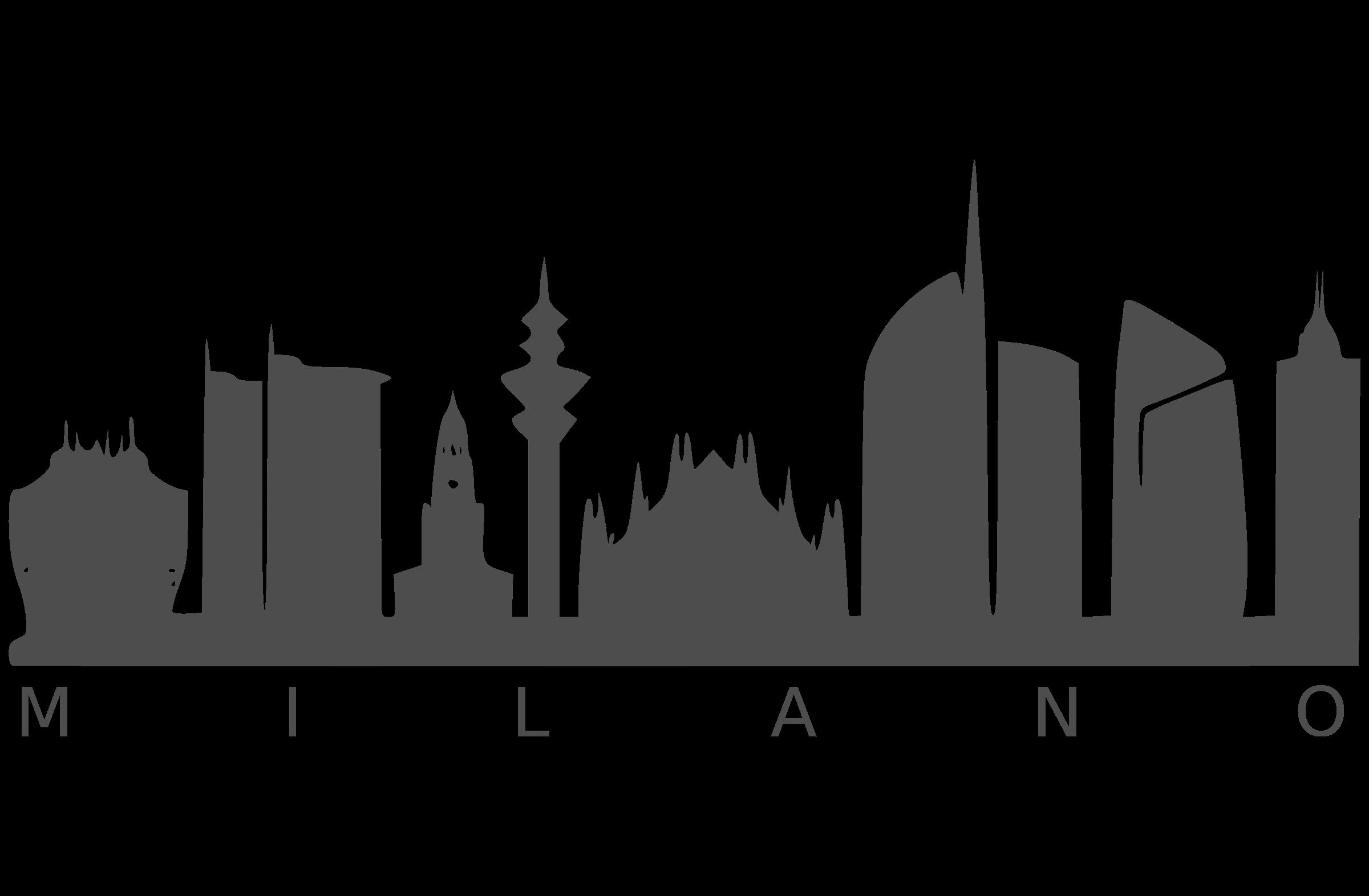 Cityscape clipart svg. Milano big image png