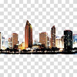 Cityscape clipart urban community. High rise building at