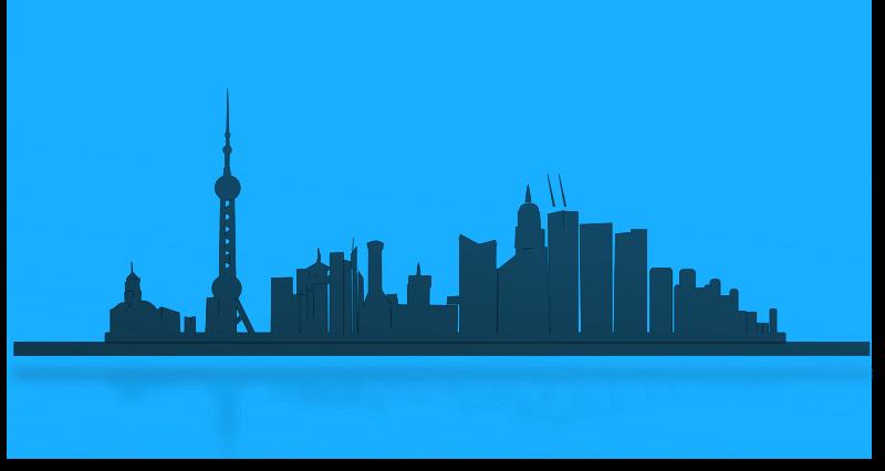 Skyline clipart street city. Shanghai medium image png