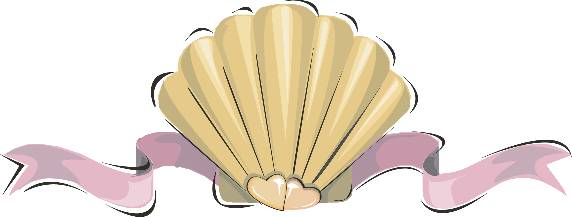 Clam oyster seashell clip. Shell clipart clamshell