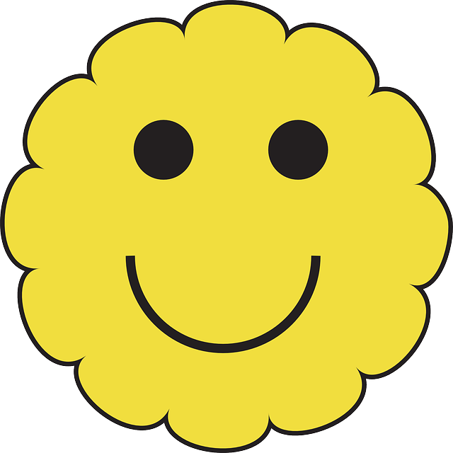 Hurt clipart emoticon. Yellow fac happy face
