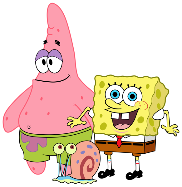 Spongebob and friends png. Pineapple clipart animated