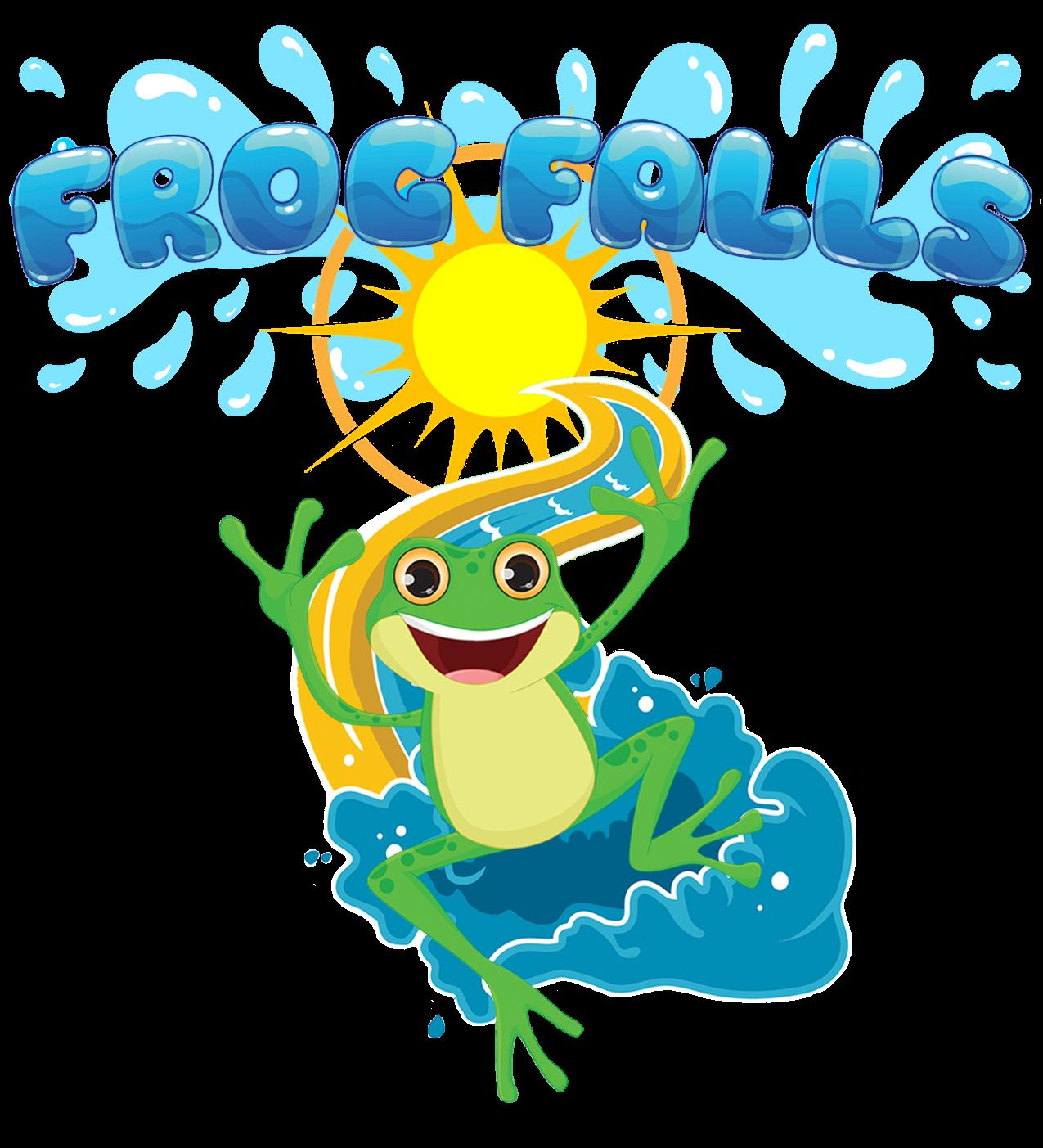 Contact frog falls. Lake clipart pool