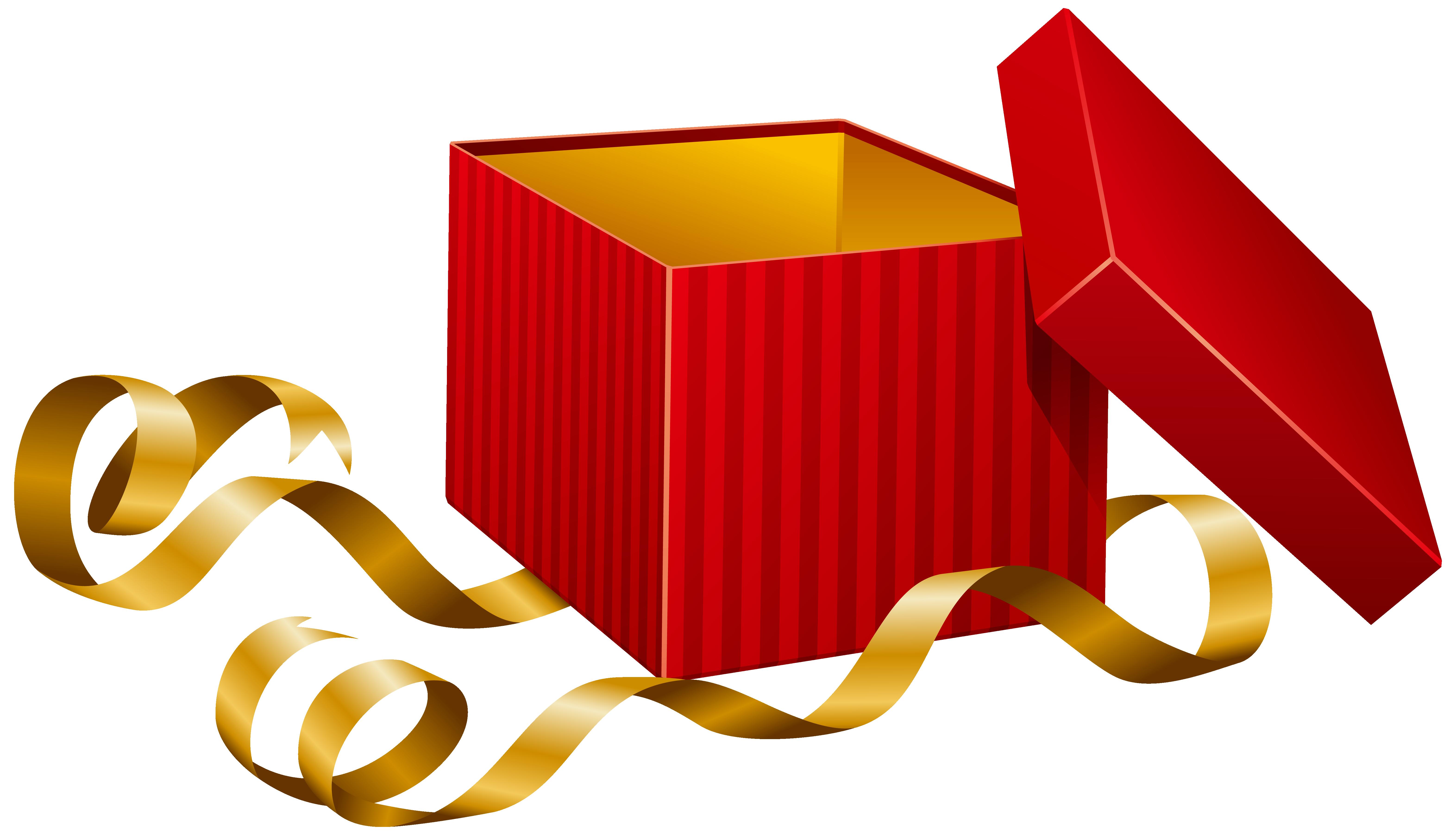 Clipart present illustration. Open gift clip art