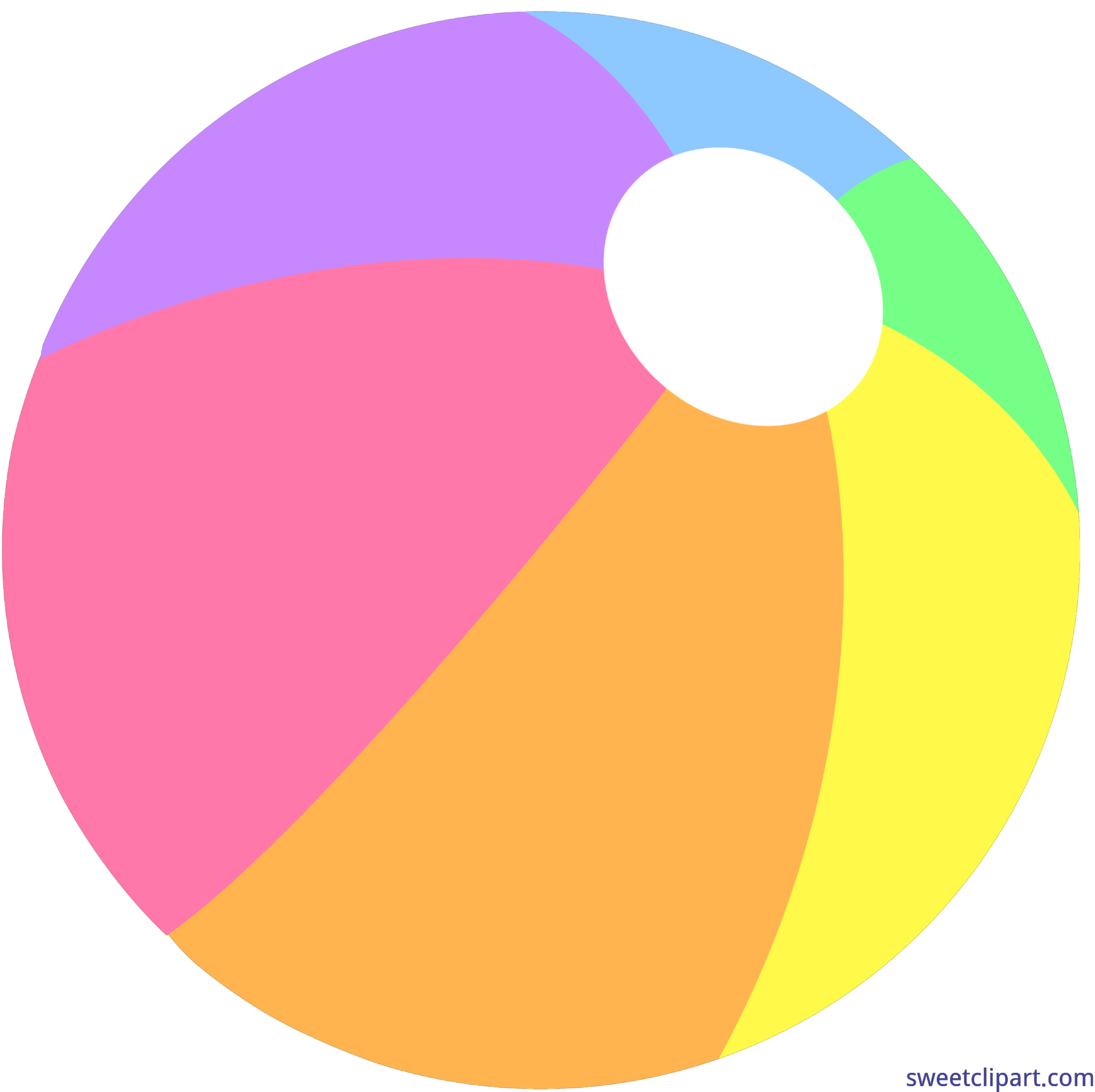 Summer beach ball pastel. Noodle clipart pool