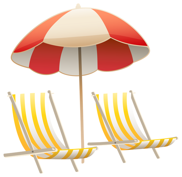 Tool clipart swimming. Beach umbrella and chairs