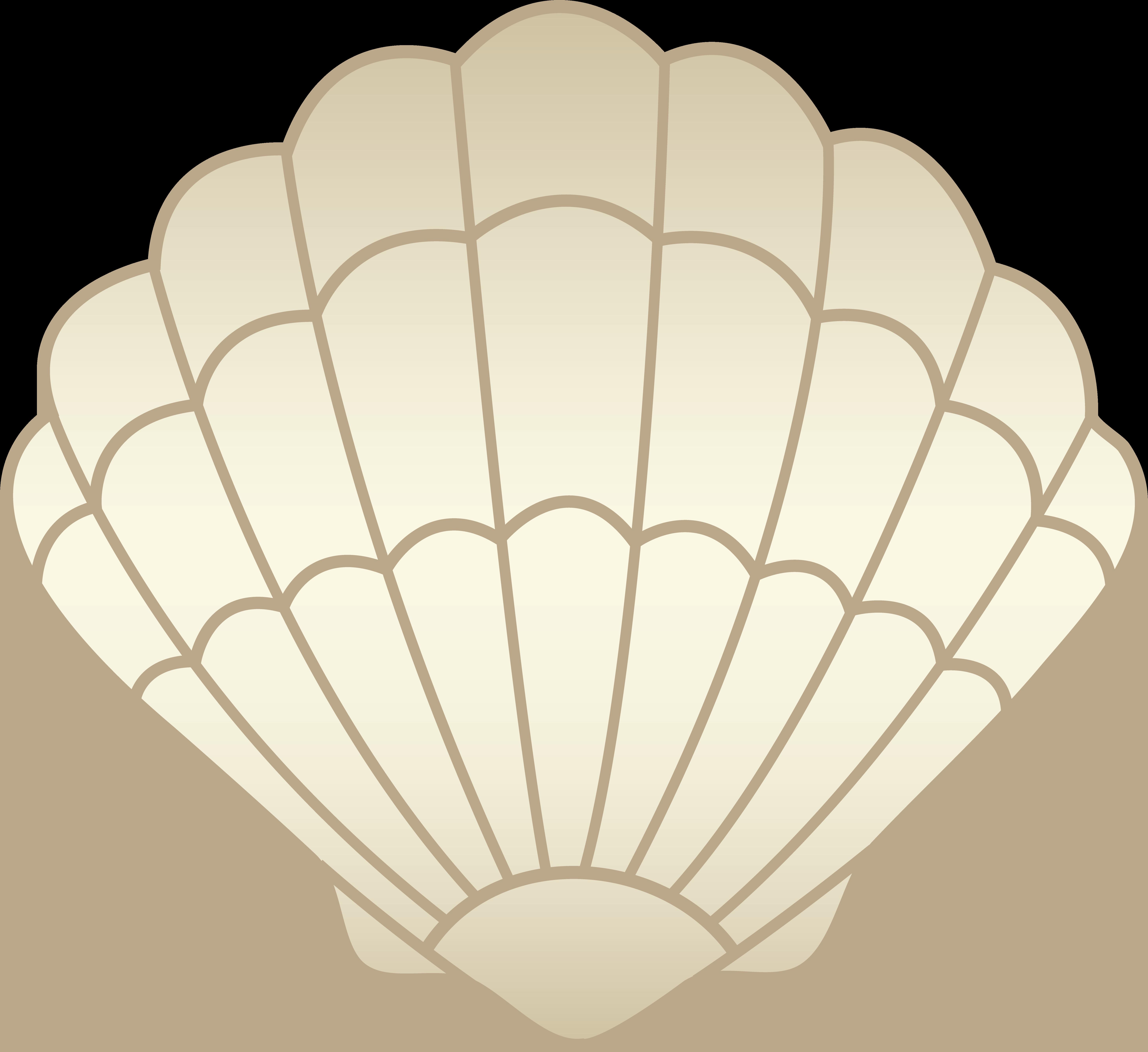 Beige seashell free clip. Shell clipart vector
