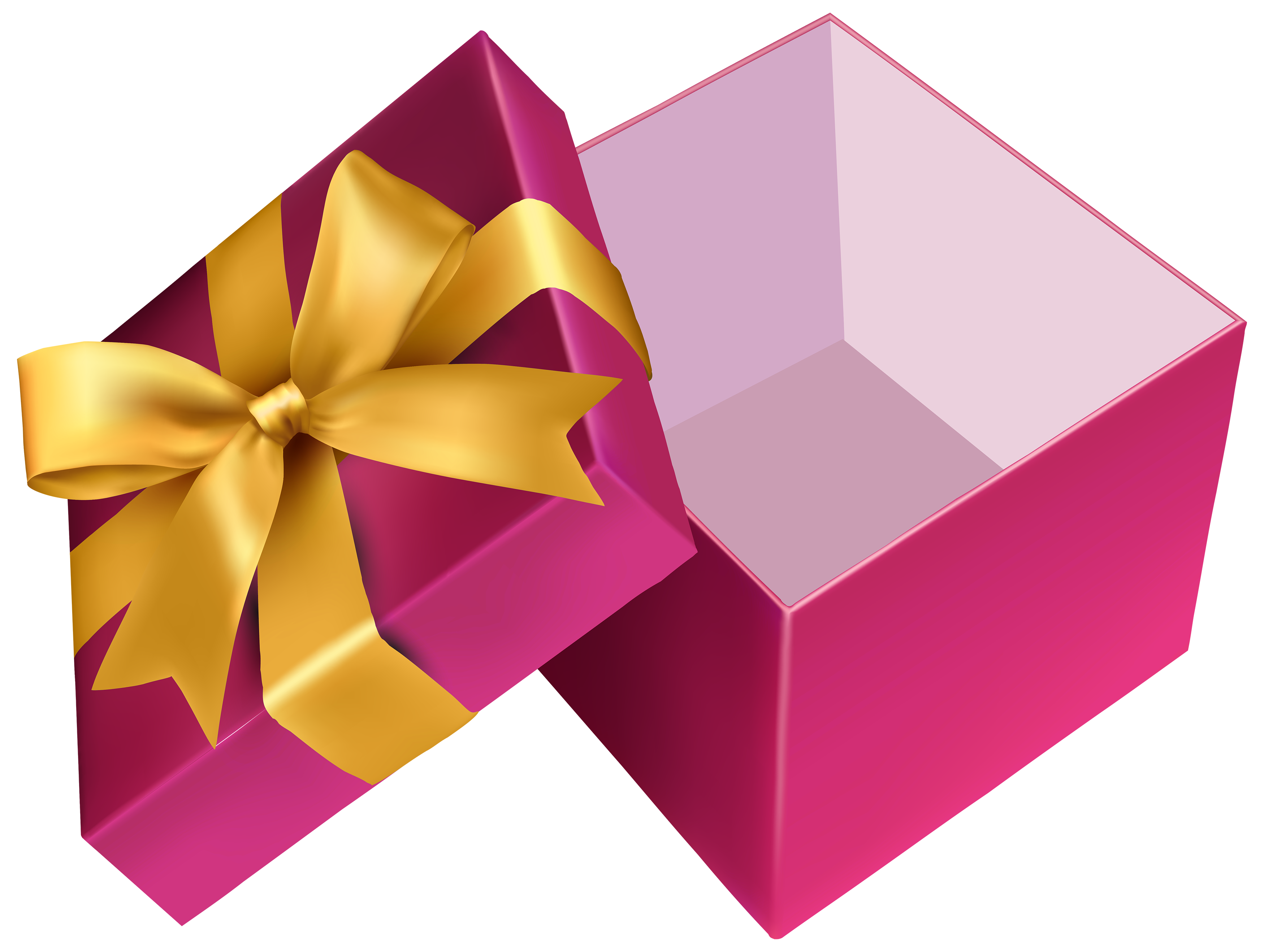 Gift clipart gift item. Pink open png best