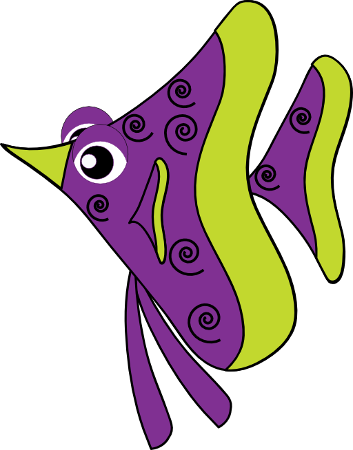 Fish royalty free public. Shell clipart purple clipart