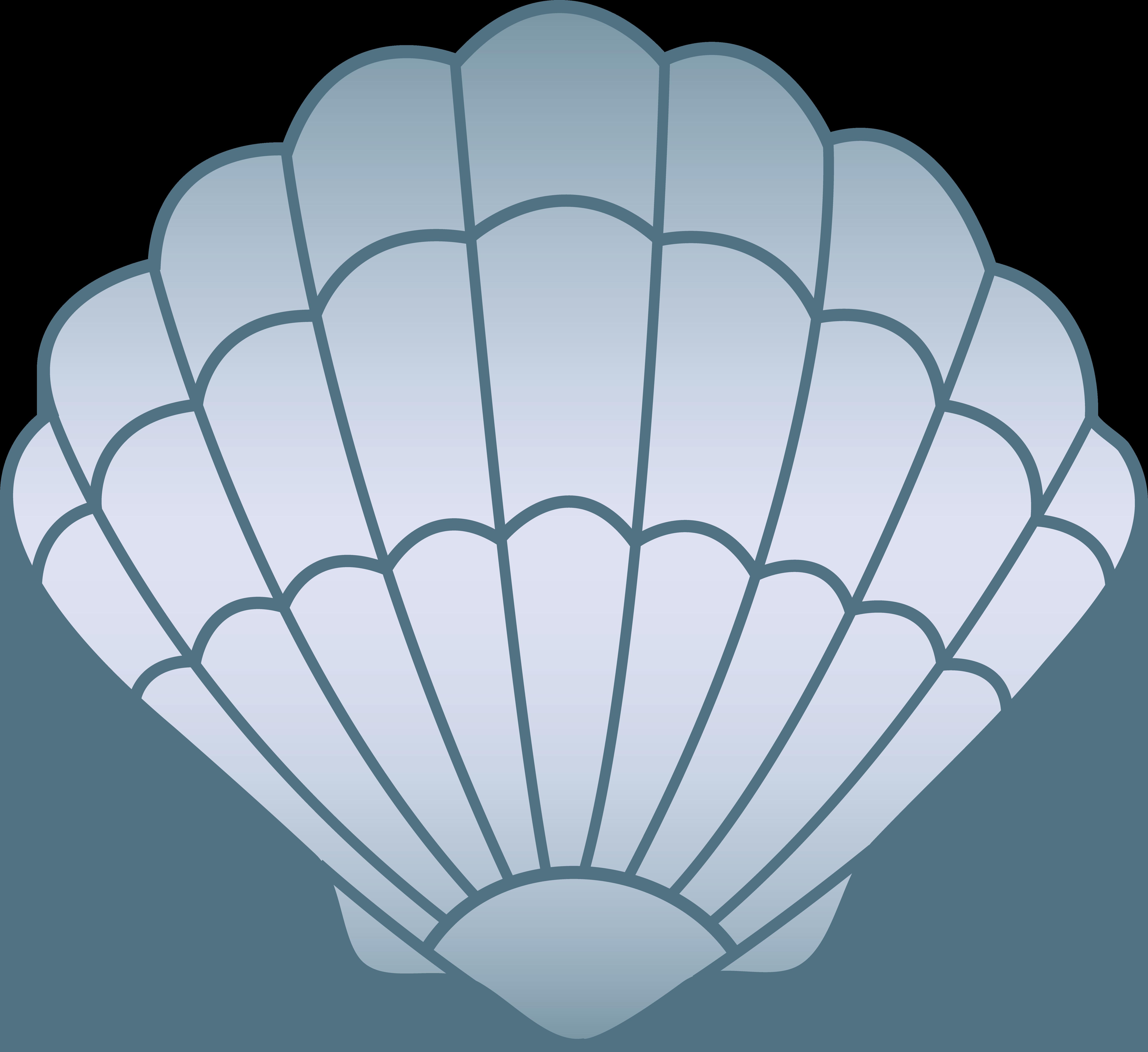 Shell clipart blue sea. Seashell free clip art