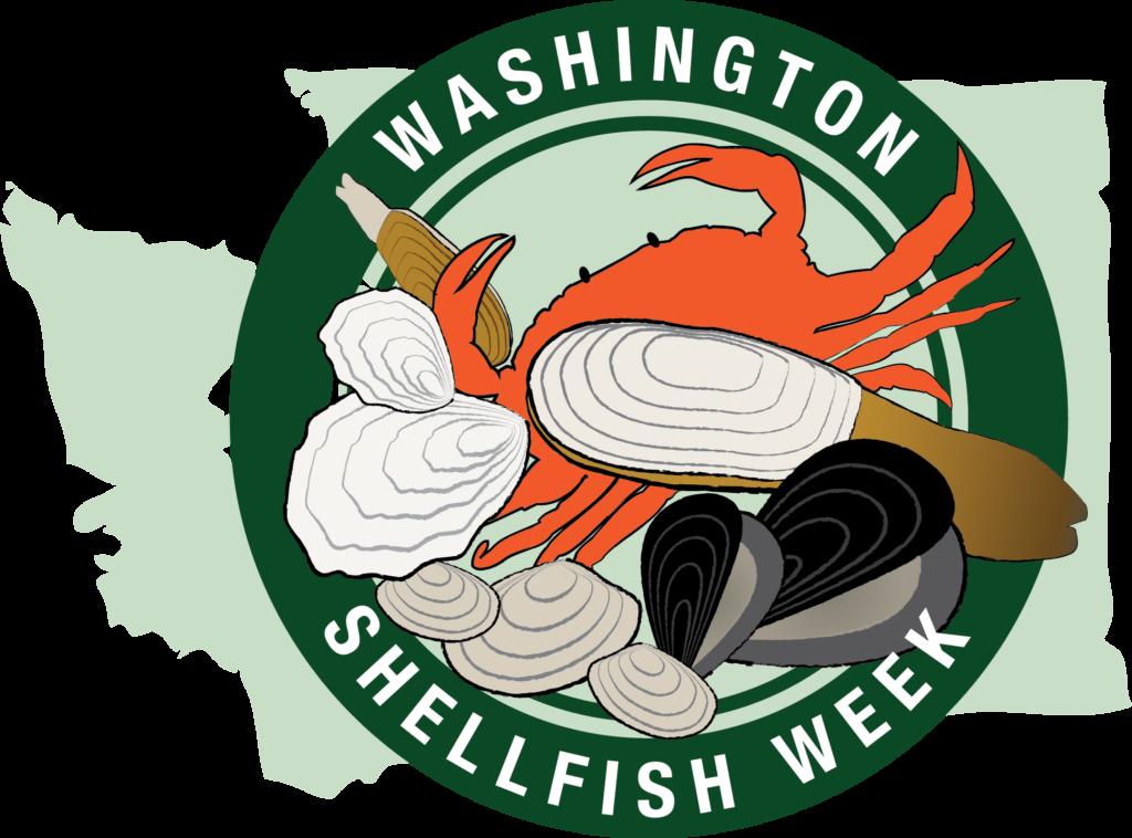 Washington shellfish week april. Oyster clipart clam