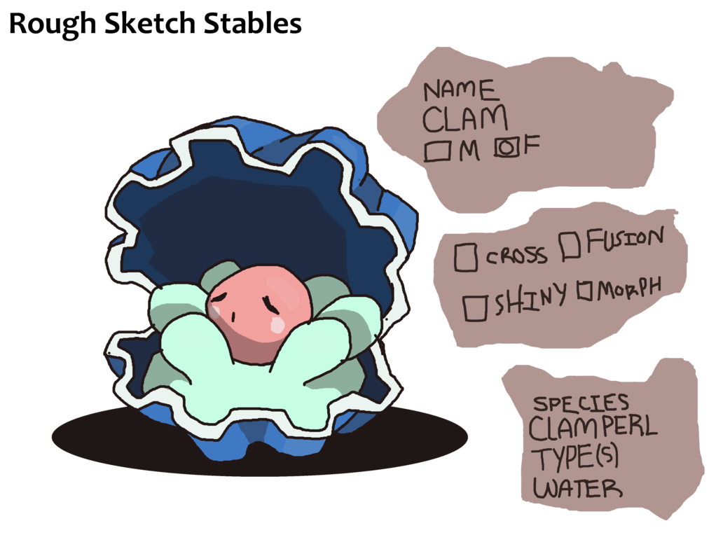 The clamperl by esprit. Shell clipart clam sketch