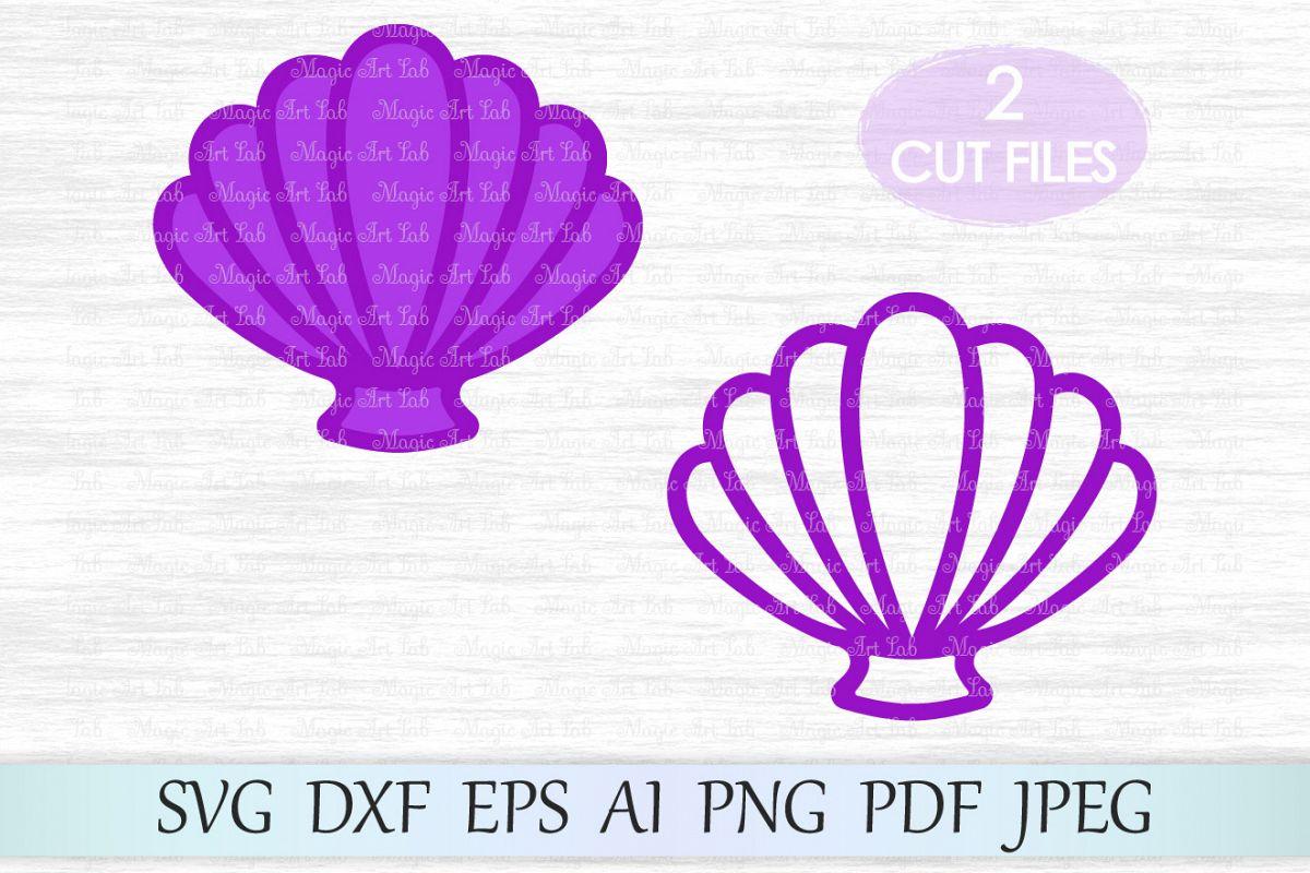 File sea mermaid shells. Shell clipart svg