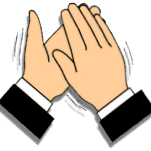 Image of clapping clip. Clap clipart