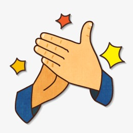 Clap clipart. Applaud hand png image