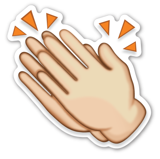 Free clapping hands cliparts. Clap clipart