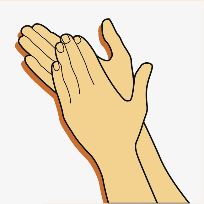 Clap clipart. Your hands warmly and