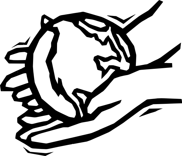 Handprint clipart helping hand. Black and white panda