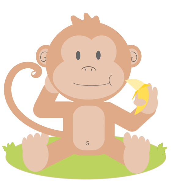 Nut clipart baby. Monkey clip art panda