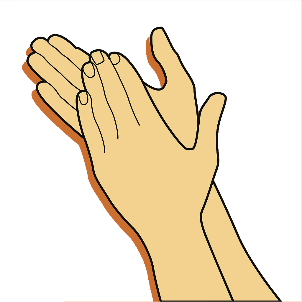 Gesture clip art clap. Clipart hand clapping