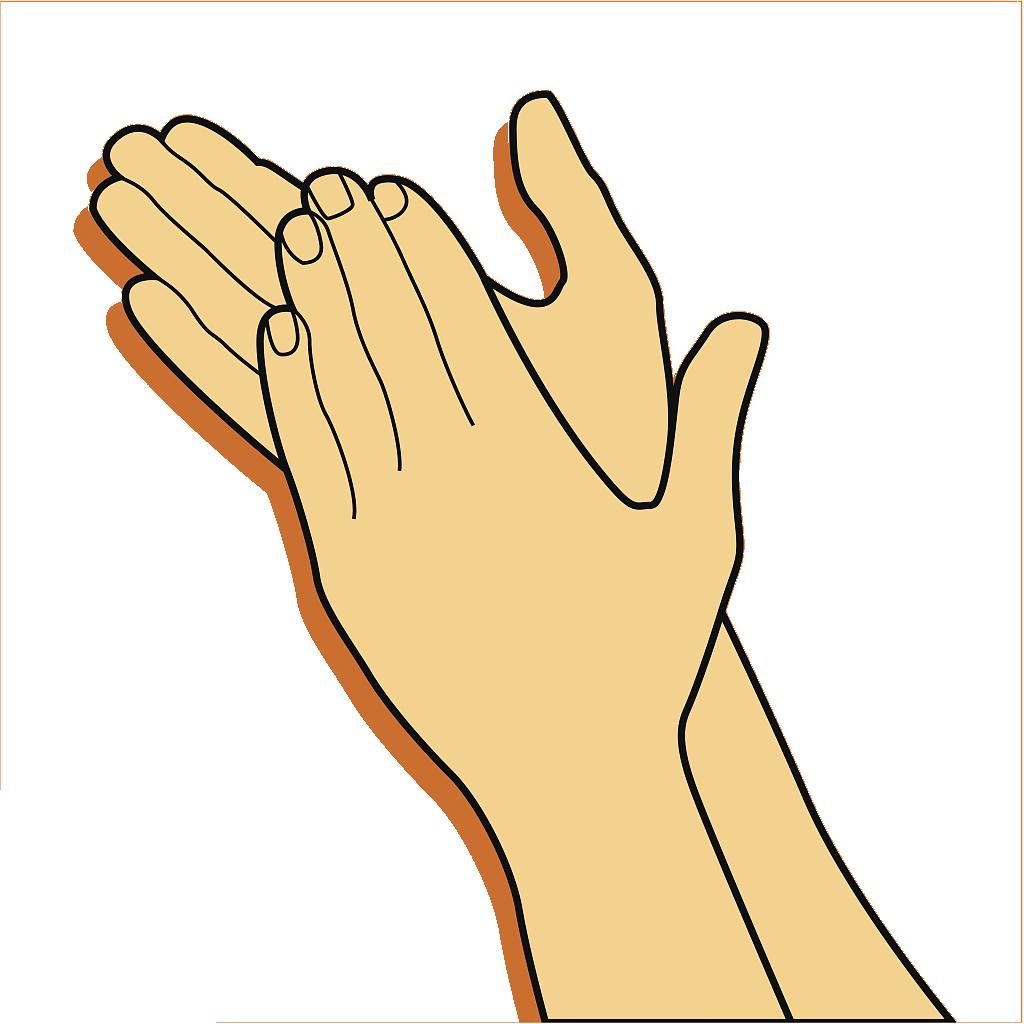 Hands clipart clapping. Gesture clip art clap