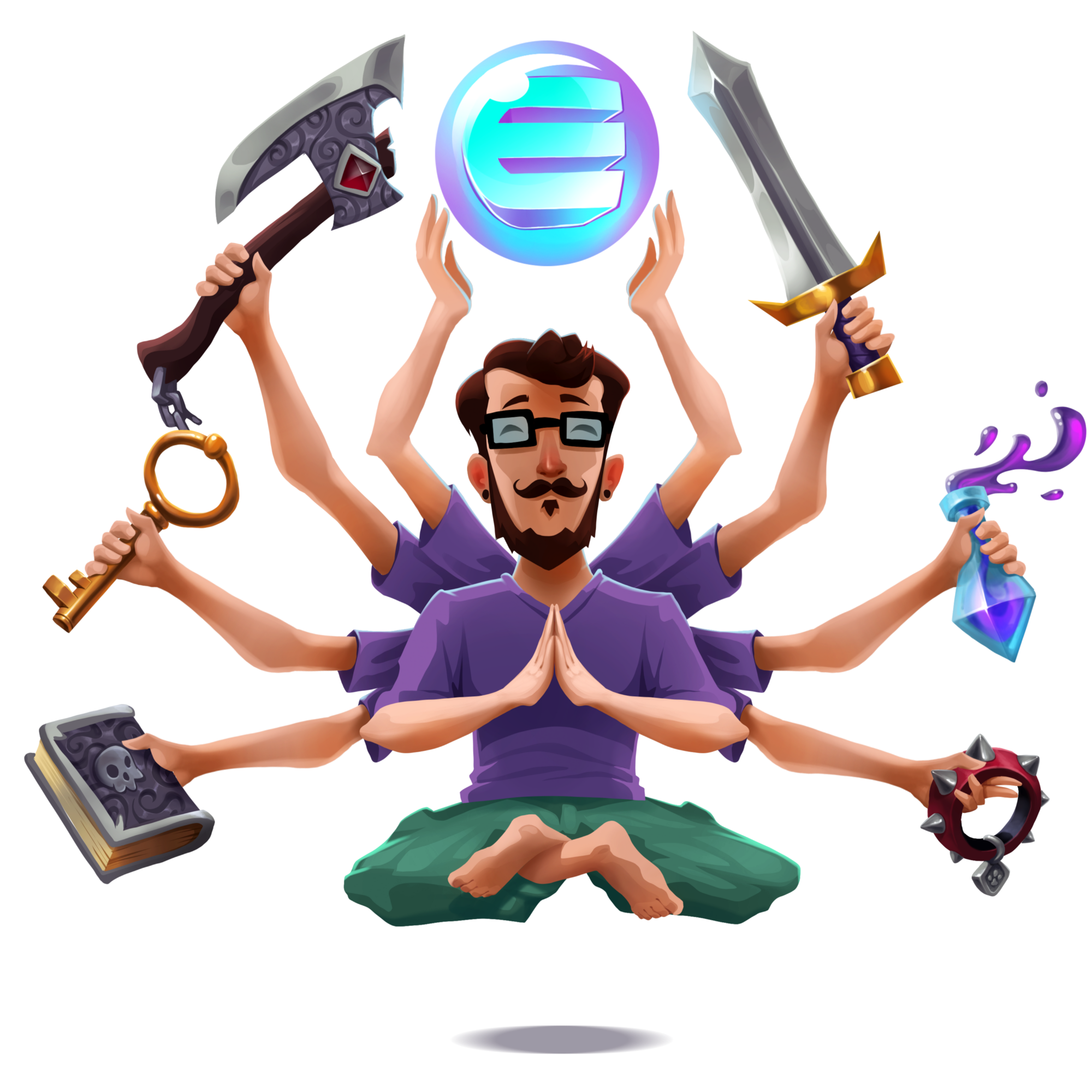 Enjin coin weekly development. Clap clipart knee