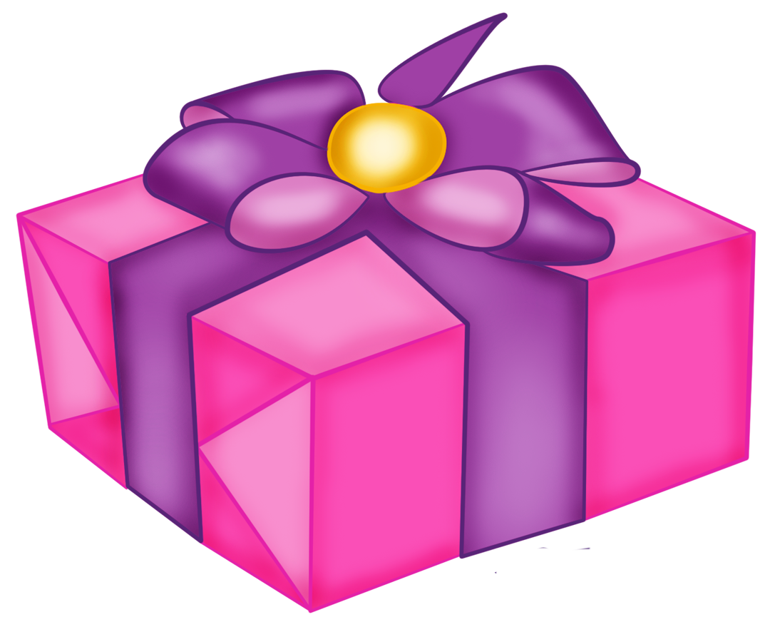 Pink gift graphics illustrations. Purple clipart present