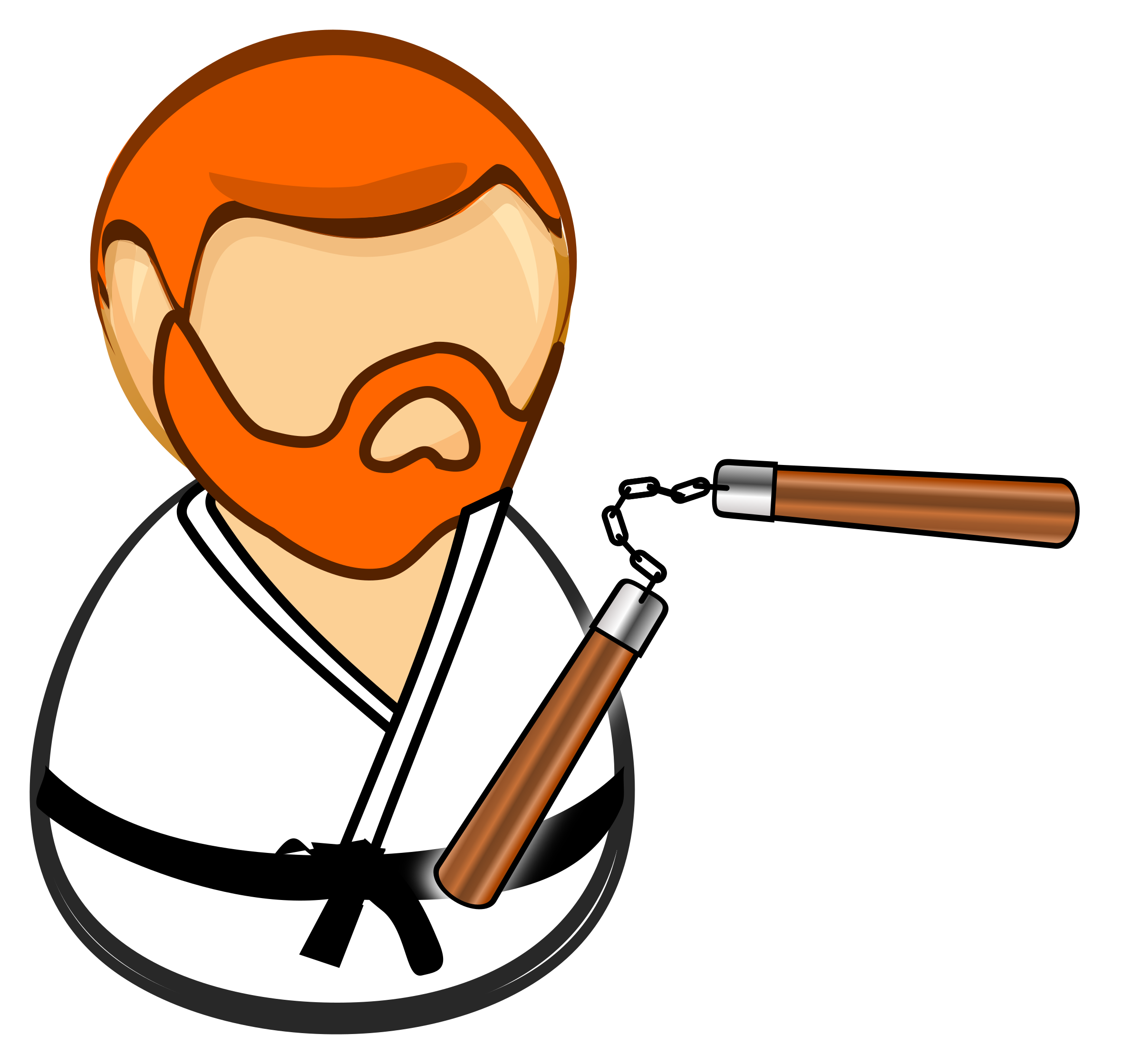 Confused clipart daunting. Chuck norris cartoon vector
