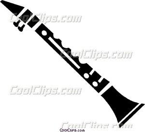 Clarinet clipart. Vector clip art