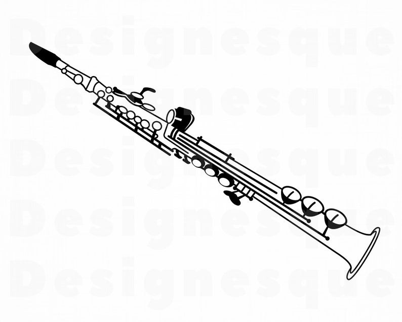 Svg files for cricut. Clarinet clipart