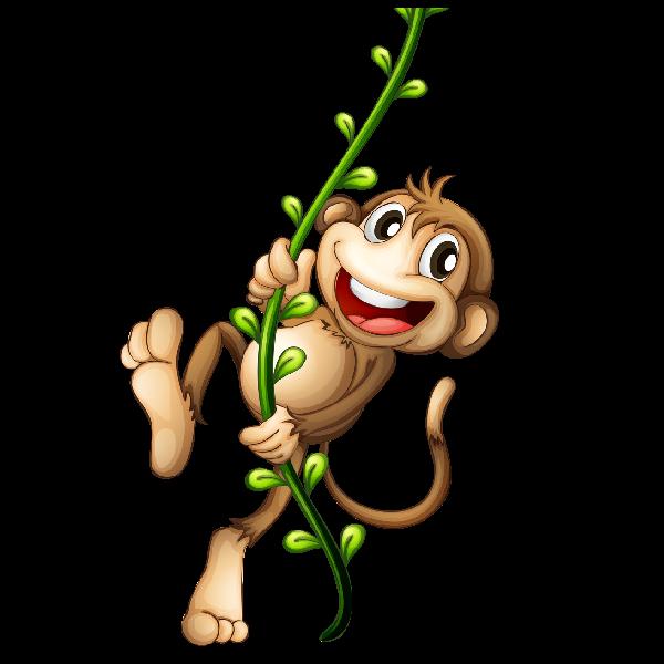 monkeys clipart watercolor