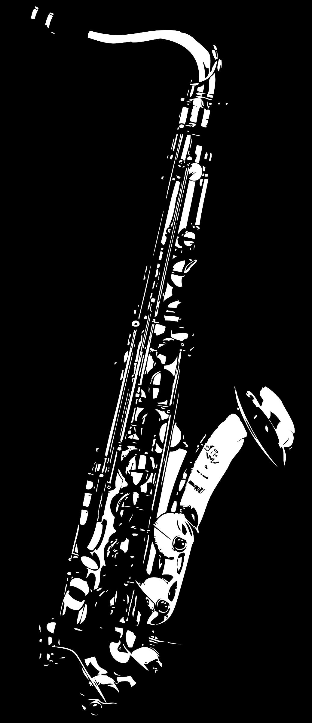Tenor saxophone big image. Clarinet clipart bass