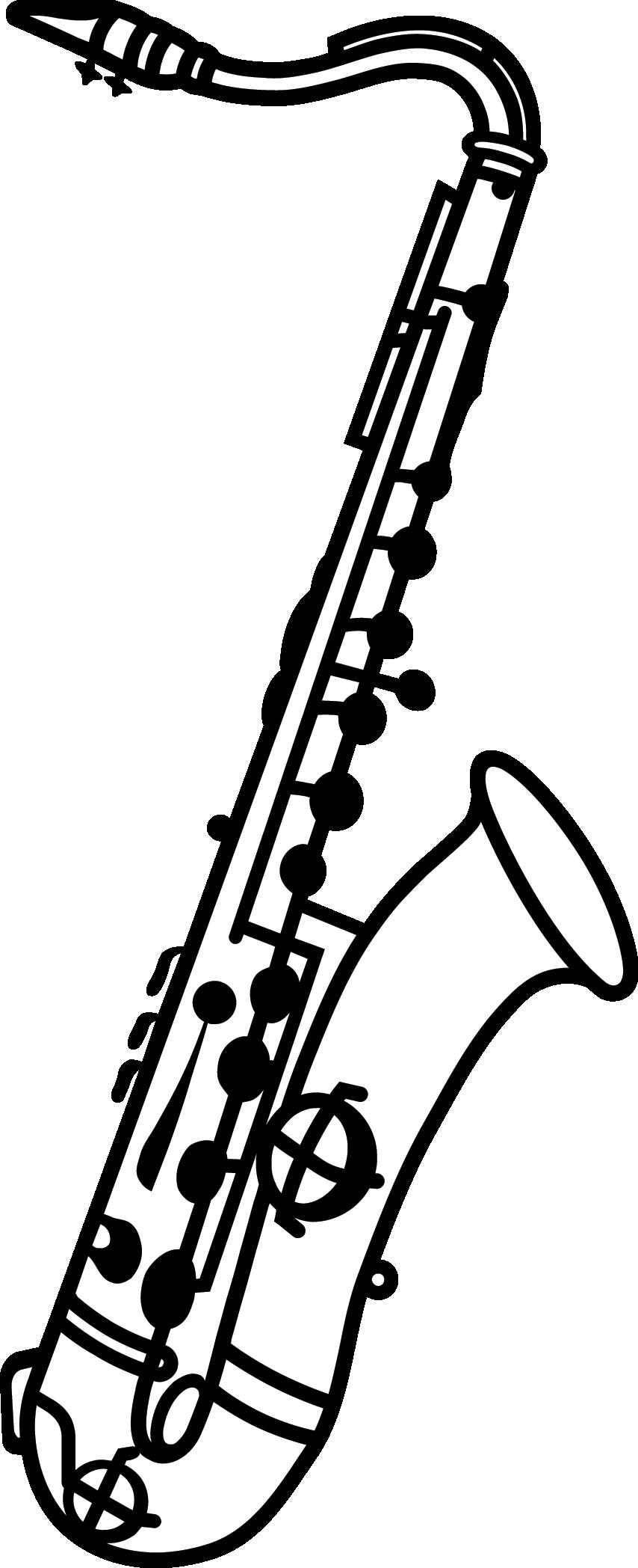 Clarinet clipart bass. Saxophon png