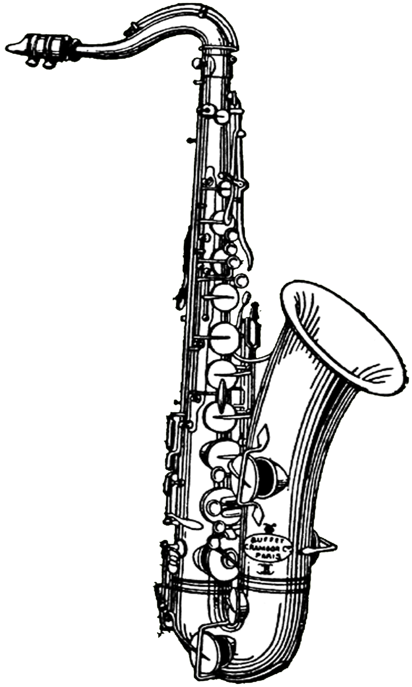 Free digital stamps vintage. Clarinet clipart bass