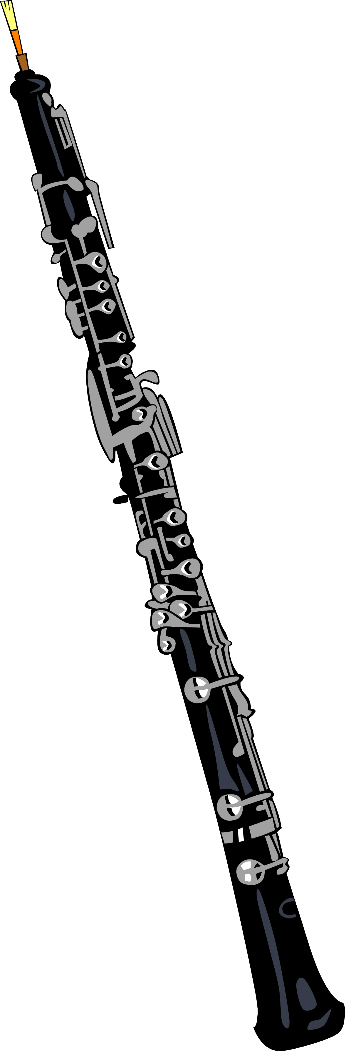 Clarinet clipart bass. Oboe panda free images