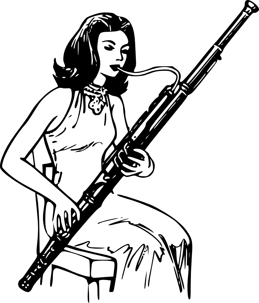 Onlinelabels clip art woman. Clarinet clipart bassoon
