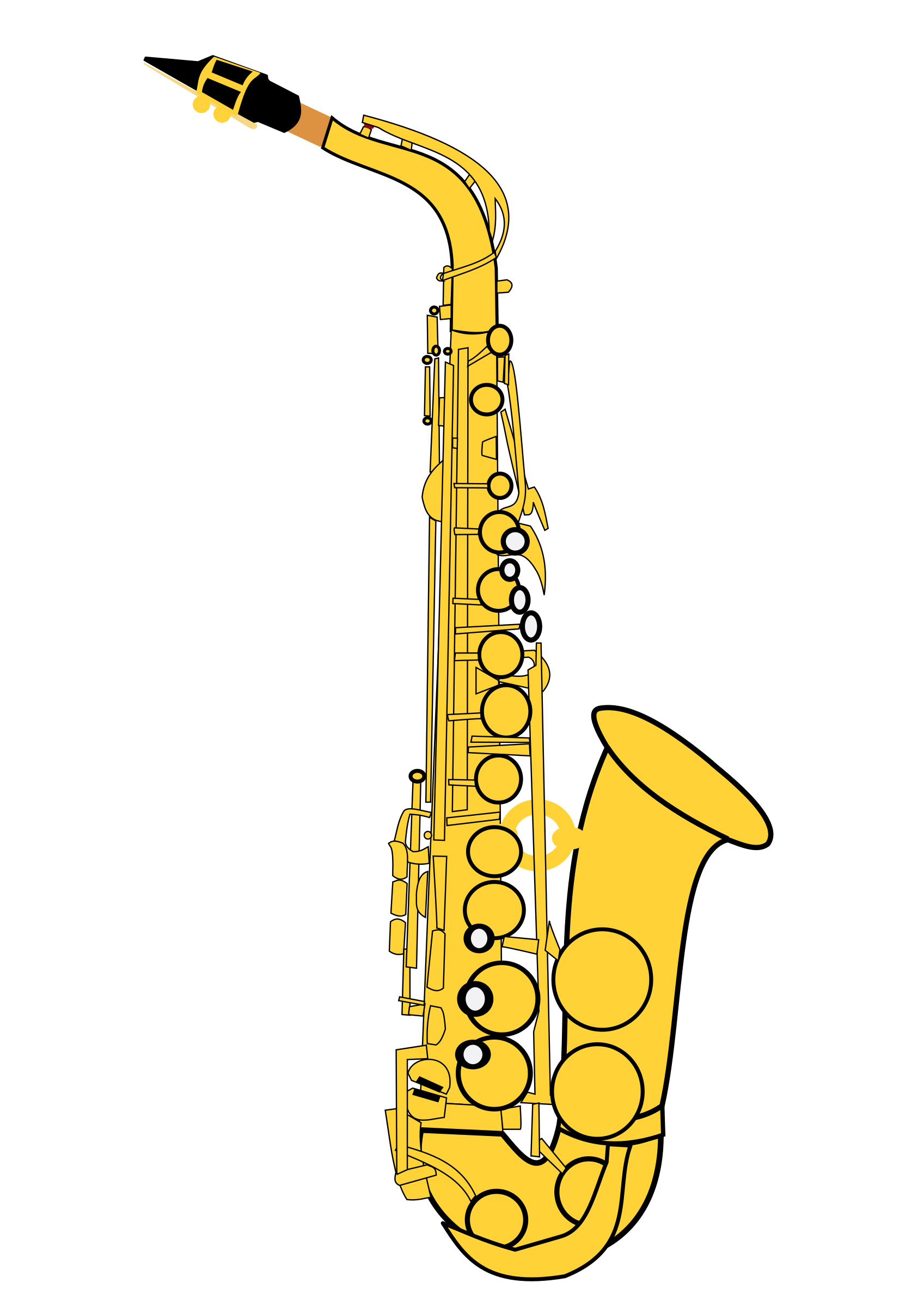 Clarinet clipart cartoon. Alto saxophone big image