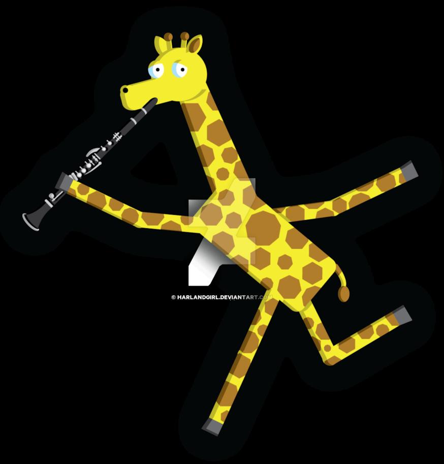 Giraffe by harlandgirl on. Clarinet clipart digital
