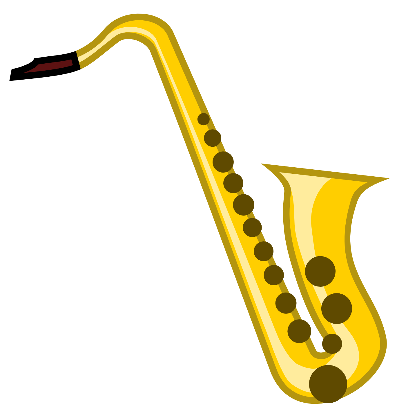 Clarinet clipart drawn. Unprotected sax the best