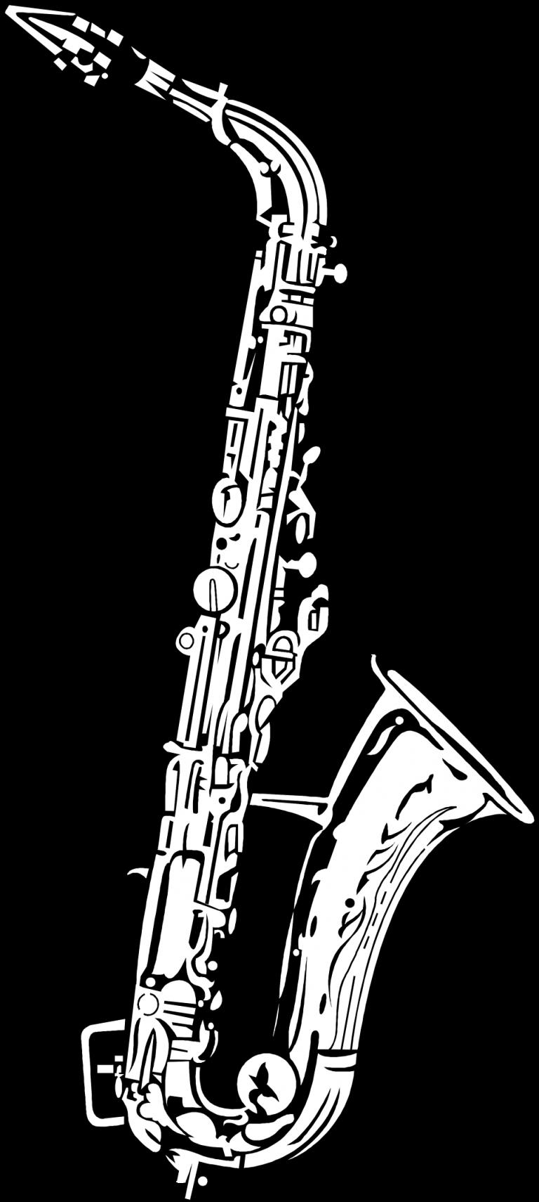 Clarinet clipart drawn. Alto saxophone drawing tenor