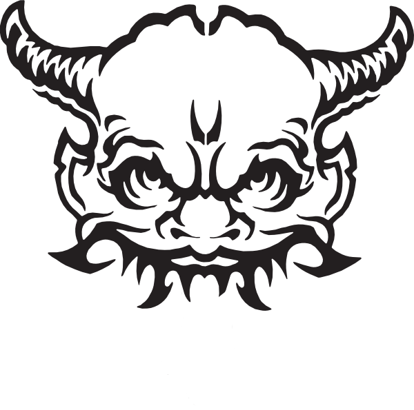 Demon head graphics illustrations. Clarinet clipart instrumentong