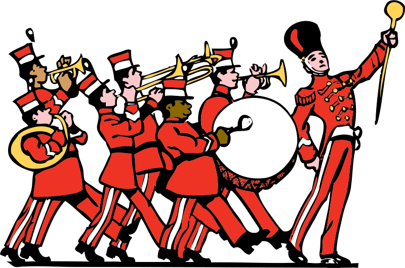 Public domain marching by. Clipart halloween band