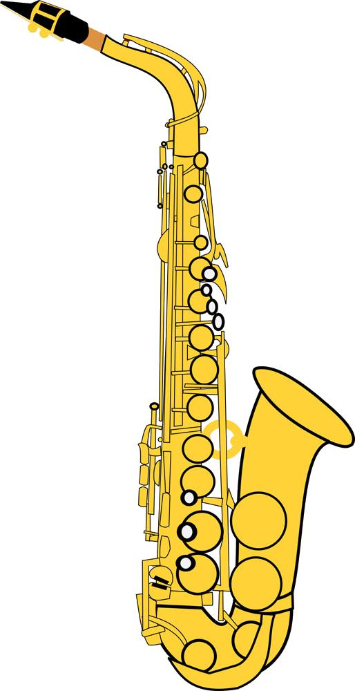 Alto saxophone clip art. Clarinet clipart music instrument
