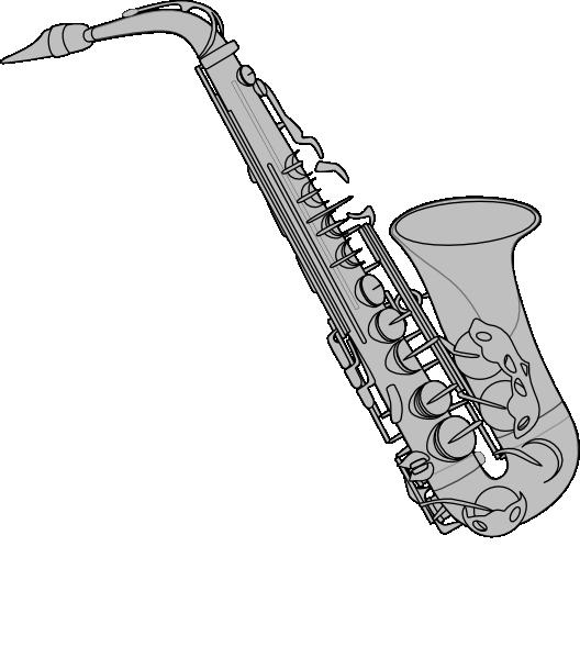 Silver clip art at. Clarinet clipart saxophone