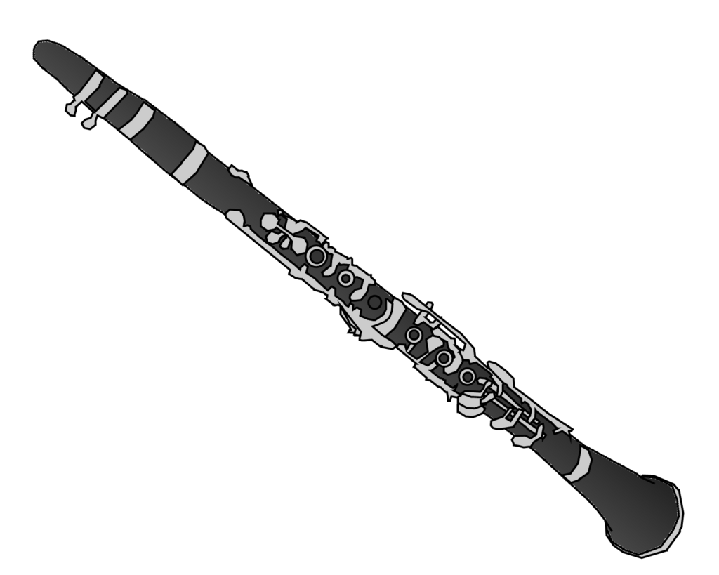 Clarinet clipart silhouette. Clipground