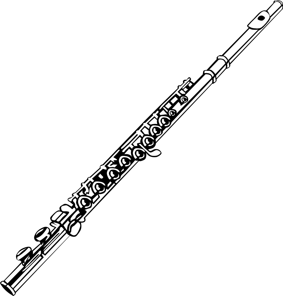 Onlinelabels clip art flute. Clarinet clipart simple